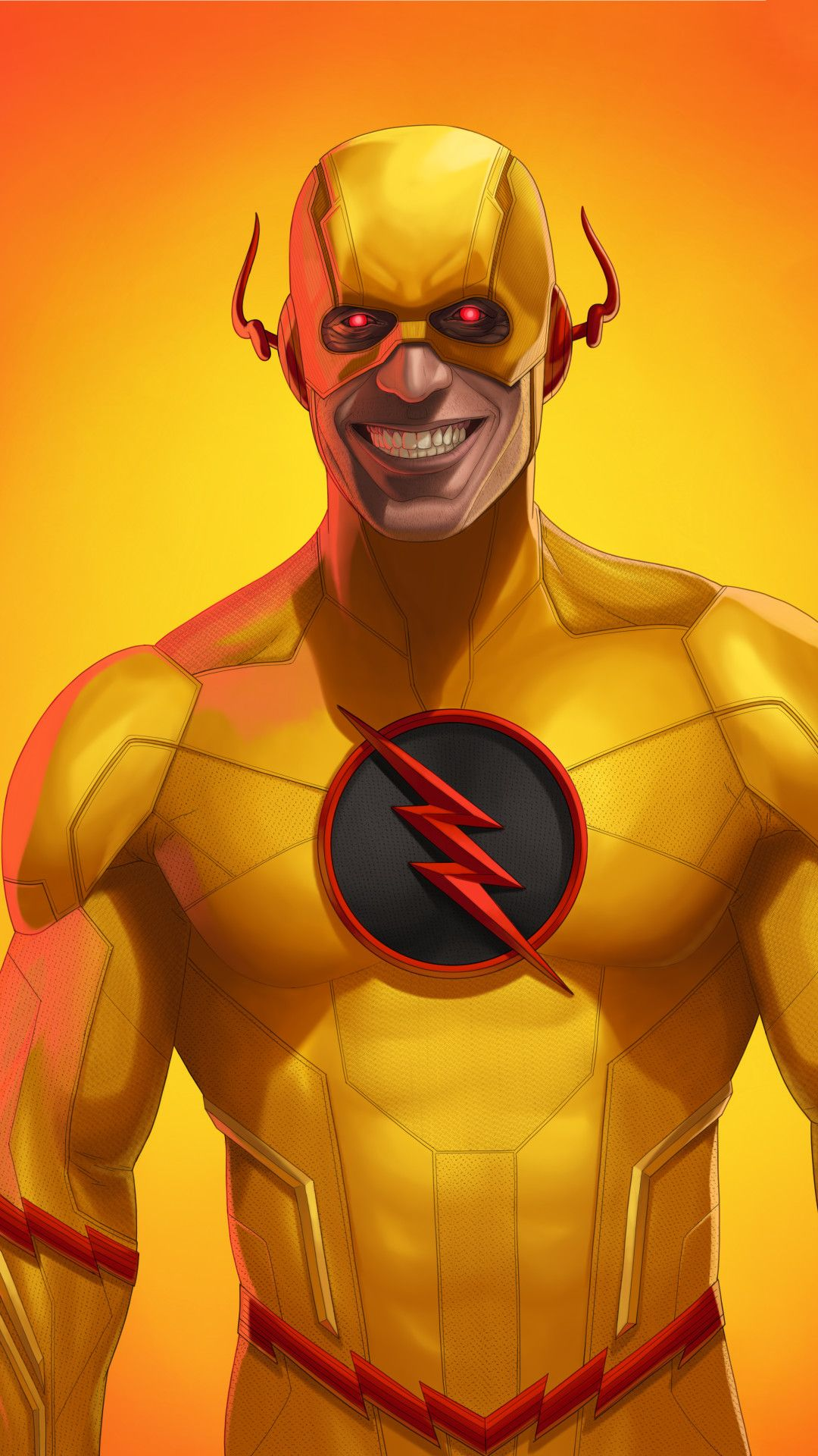 Reverse Flash Art Mobile Wallpaper Iphone Android Samsung Pixel Xiaomi In 2020 Flash Art Flash Comics Reverse Flash
