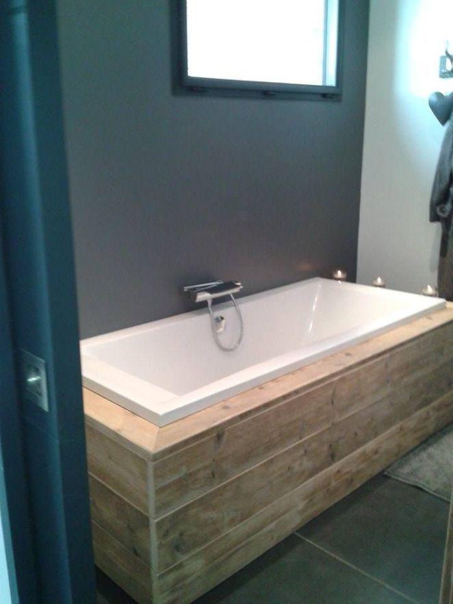 Id e d coration salle de bain contour de baignoire en for Idee deco baignoire
