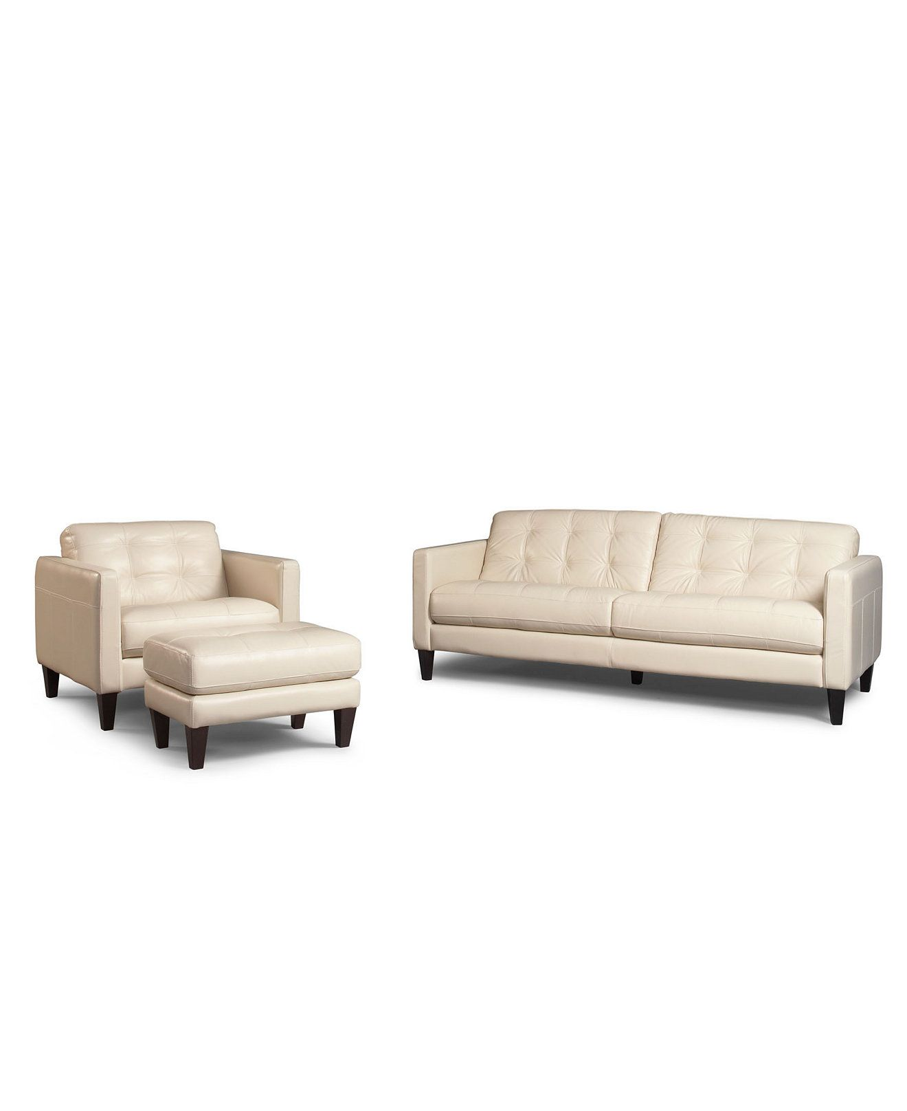 Fabulous Milan 3 Piece Leather Sofa Set Sofa Chair And Ottoman Download Free Architecture Designs Scobabritishbridgeorg