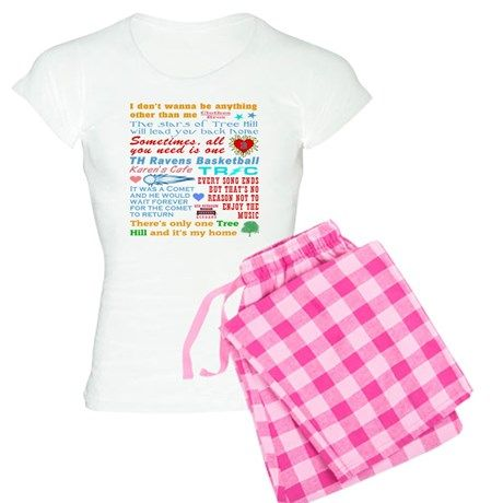 e7927b3fc One Tree Hill Women's Light Pajamas One Tree Hill Pajamas by  TheTshirtPainter - CafePress