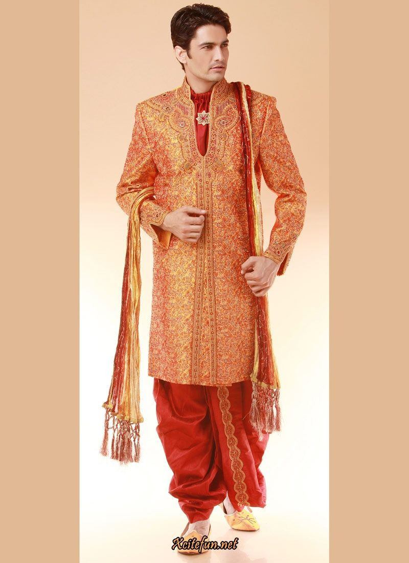 Indian groom dress wedding sherwanis fa d a for Indian wedding dresses mens