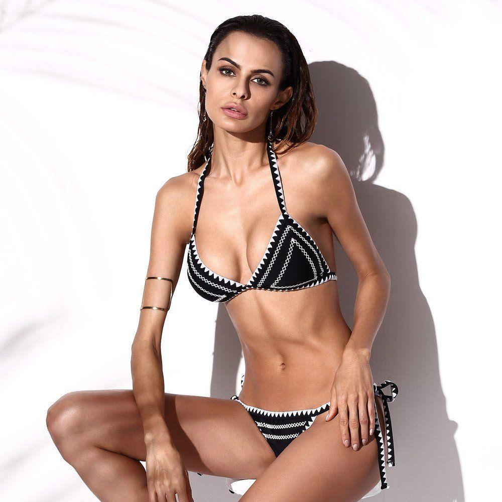 Sash Accented Triangle Bikini