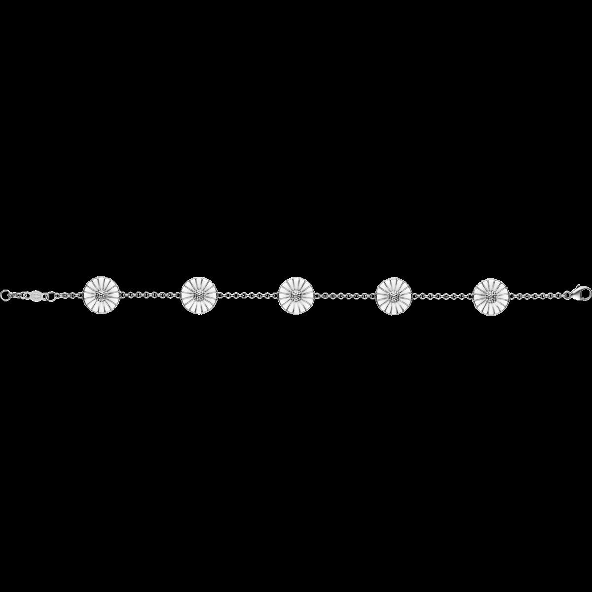 DAISY armbånd - rhodineret sterlingsølv med emalje