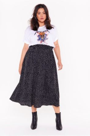 Photo of High-Waisted Plus Size Polka Dot Skirt | Nasty Gal