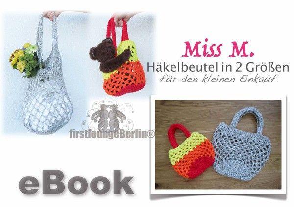 Miss M. Häkelbeutel - Häkelnetz in 2 Größen z.B. für Papa & Kind - Design with LOVE von firstloungeberlin