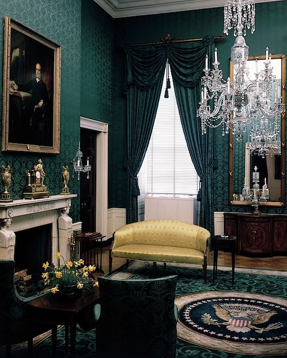 The Green Room In The White House By Haanel Cassidy In 2021 Green Rooms Victorian Home Decor Dark Green Rooms