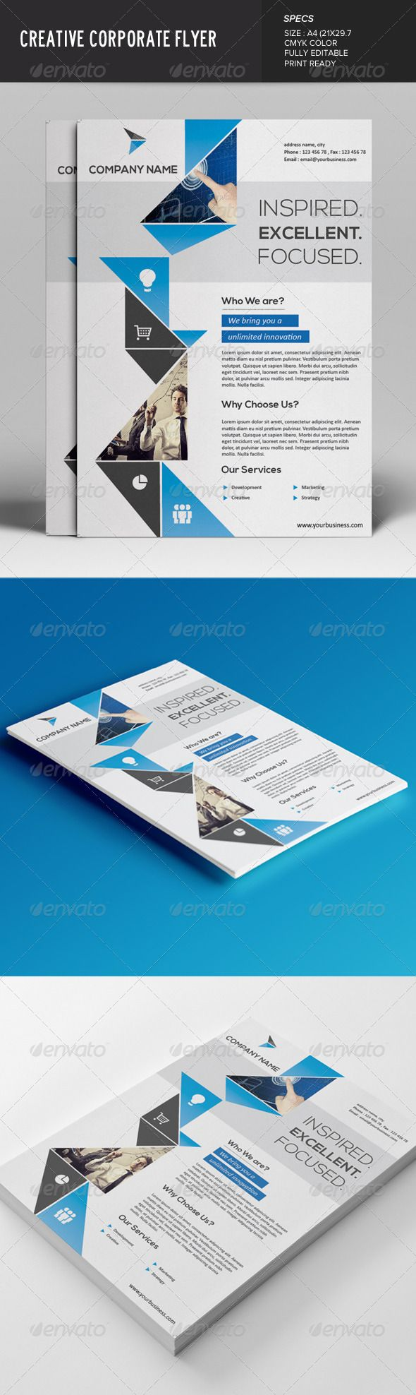 Flyer Vector Eps Corporate Simple Available Here Https Graphicriver Net Item Flyer 7619364 Ref Pxcr Corporate Flyer Company Profile Design Flyer