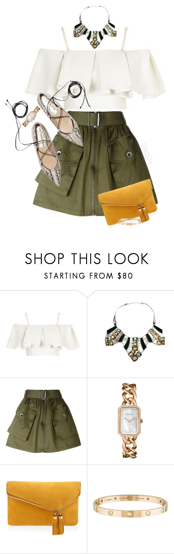 """Untitled #120"" by stylebytai ❤ liked on Polyvore featuring Topshop, Isabel Englebert, Diesel, Chanel, Henri Bendel and Cartier"