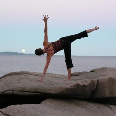 ardha chandrasana  half moon pose  anusara yoga yoga