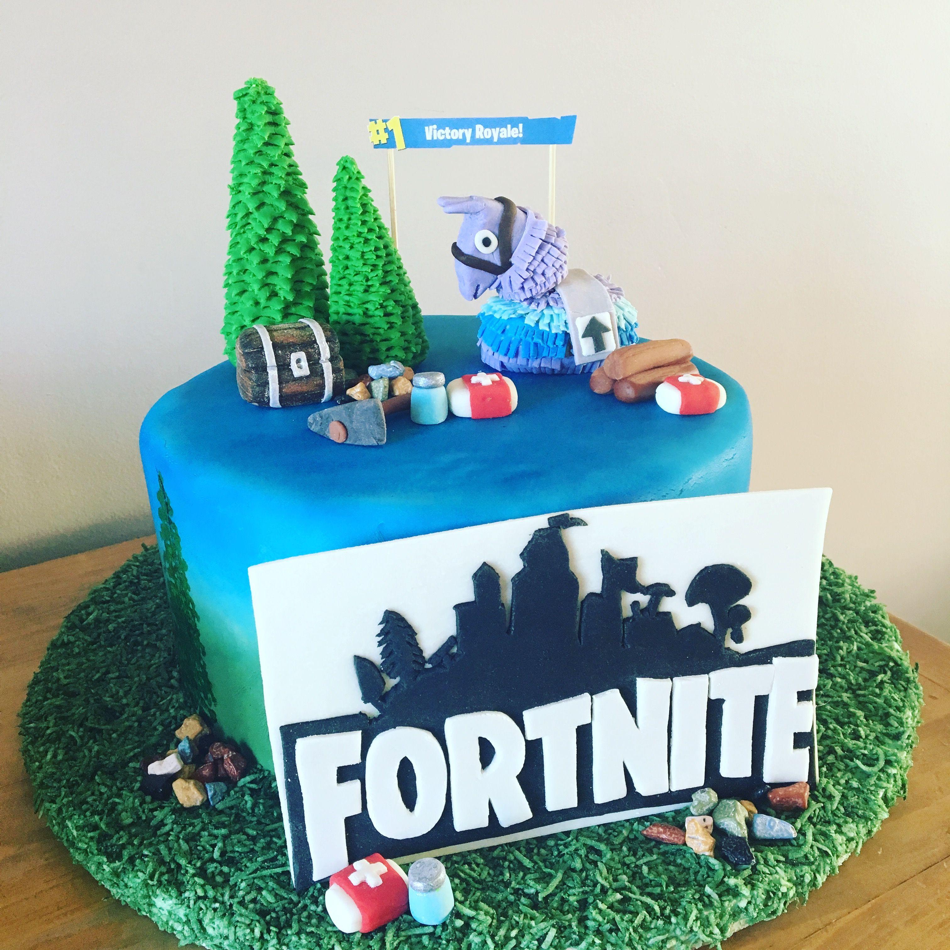 Fortnite Cake Video Game Cake Handmade Gumpaste
