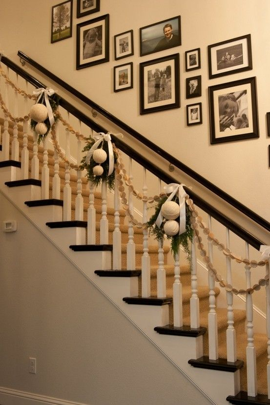 love the stair decor by miranda - Stairway Christmas Decorating Ideas Pinterest