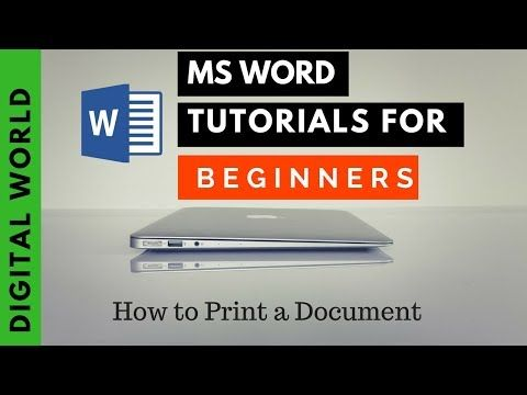 How to print MS Word document from Laptop on Windows 10 Digital