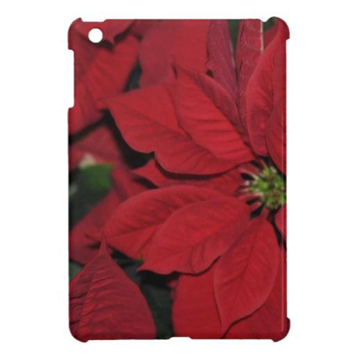 Red Poinsettia iPad Mini Cases