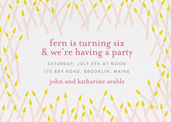 Candle Party by Ashley G for Paperless Post Online invitations – Candle Party Invitations
