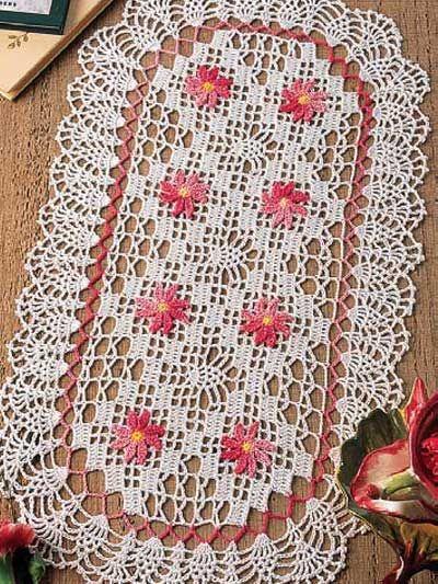 crochet oblong oval doily free pattern | Bandejeros | Pinterest ...