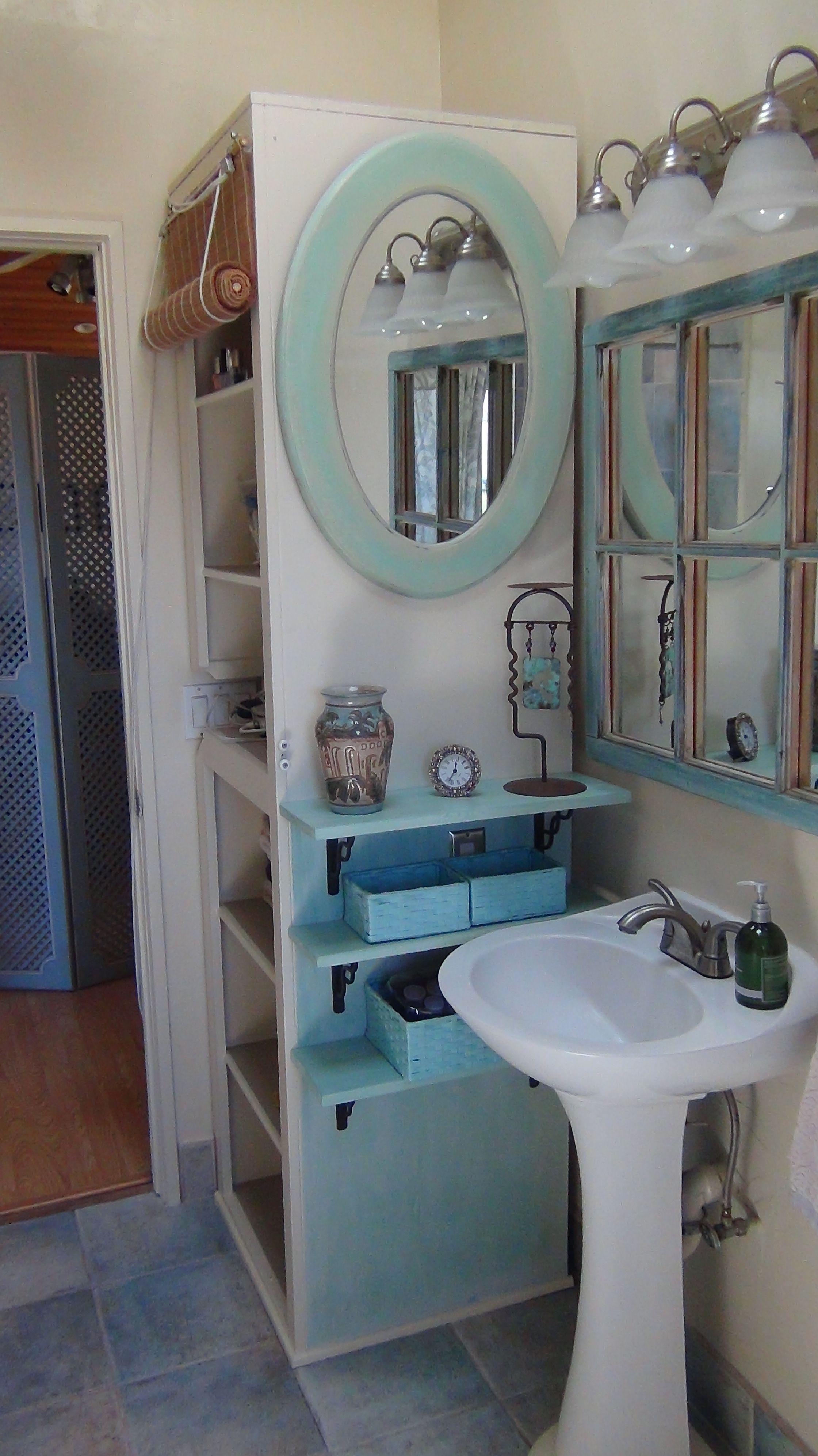 A Small Bathroom With A Pedestal Sink Means Little Counter Space - Bathroom pedestal sink storage cabinet for bathroom decor ideas