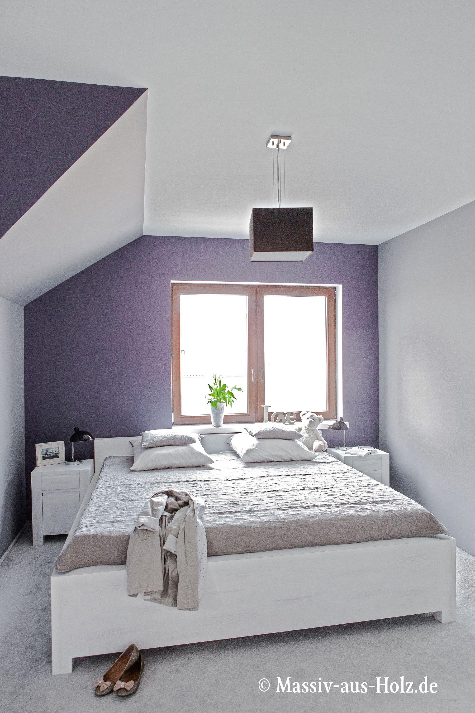 Bett modern, hochwertig, weiß www.massiv-aus-holz.de #home ...