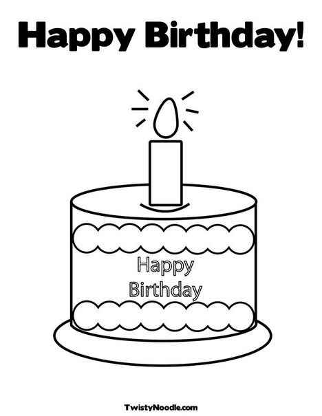 Happy Birthday & Holiday Coloring Pages that you can write ...