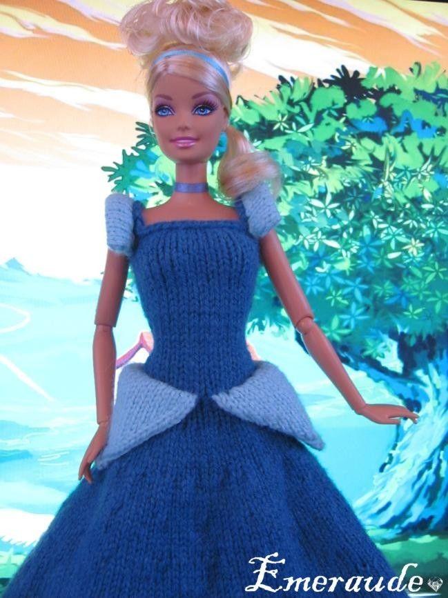 Tricot robe de princesse disney cendrillon for melanie - Robe barbie adulte ...