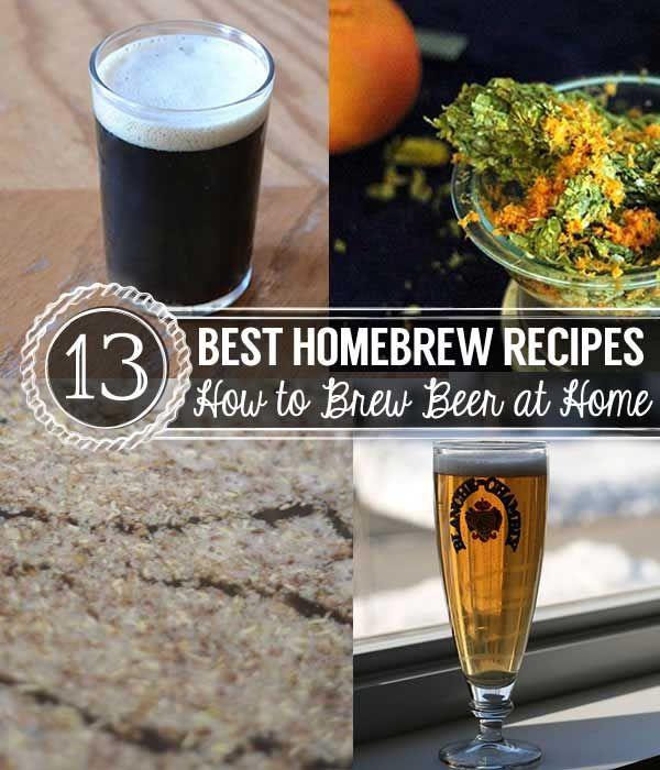 13 Homebrew Recipes To Make Beer At Home Homesteading Beer Brewing Recipes Homebrew Recipes Brewing Recipes