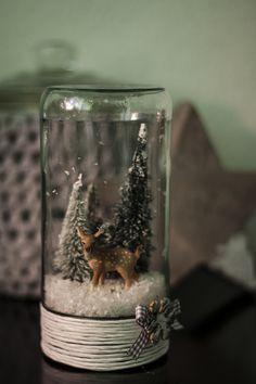 Möchten Sie ein kleines Winterwunderland? Gerne helfe ich Ihnen bei ..., #bei #ein #Gerne #helfe #ich #weihnachtsdeko im glas mit tanne