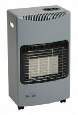 Calor Gas Type Cabinet Heater Running Off A Standard Bottle Of