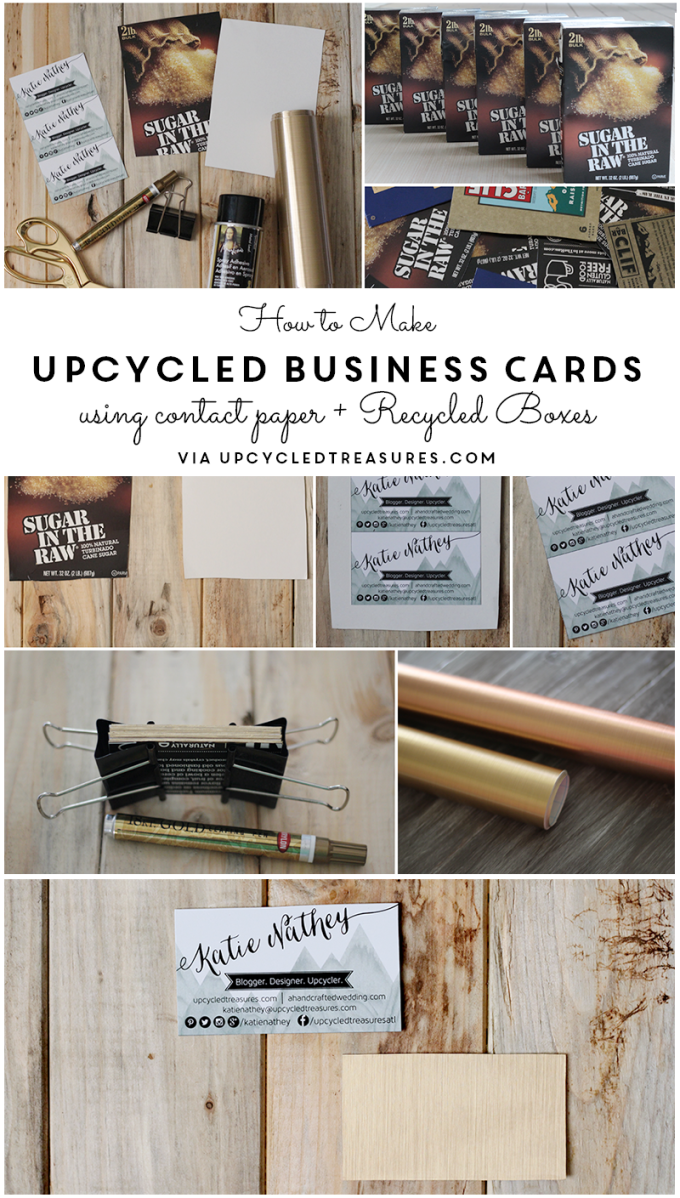 Upcycled DIY Business Cards with Contact Paper | Contact paper ...