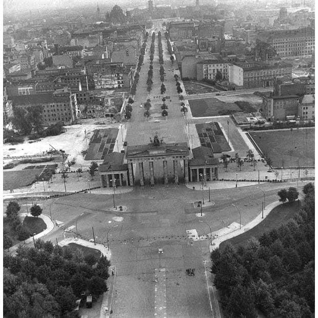 1961 Ost Berlin Brandenburger Tor Am 26 August 1961 Berlin Wall Berlin West Berlin