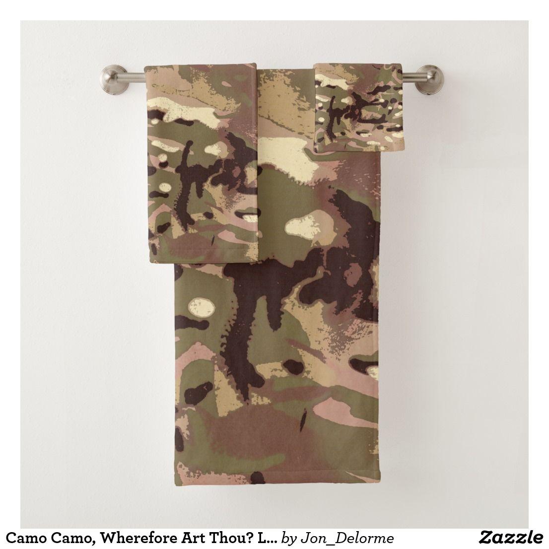 Camo Camo Wherefore Art Thou Lidj Design Bath Towel Set