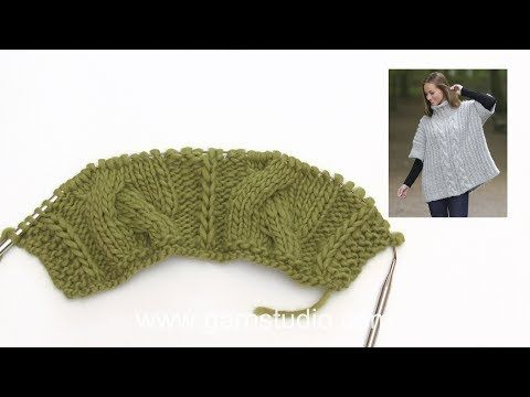 (7) How to knit cables and English rib in DROPS 181-18 - YouTube