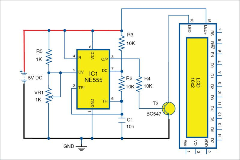 Dimming Lcd Backlight Detailed Circuit Diagram Available Circuit Diagram Lcd Electronics Projects