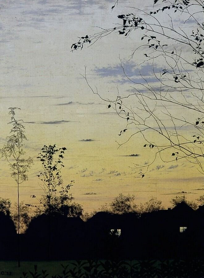 "thunderstruck9:  ""Ali Goubitz (Dutch, 1904-1975), Avond te Castricum [Evening at Castricum], 1938. Oil on panel.  """