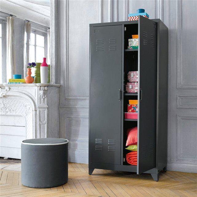 Armoire Vestiaire Metal 2 Portes Hiba La Redoute Interieurs Armoire Vestiaire Armoire Mobilier De Salon