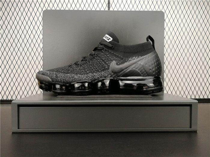 70b3f1e743 Nike Air VaporMax 2.0 Flyknit 942842-012 Mens Running Shoes Black ...