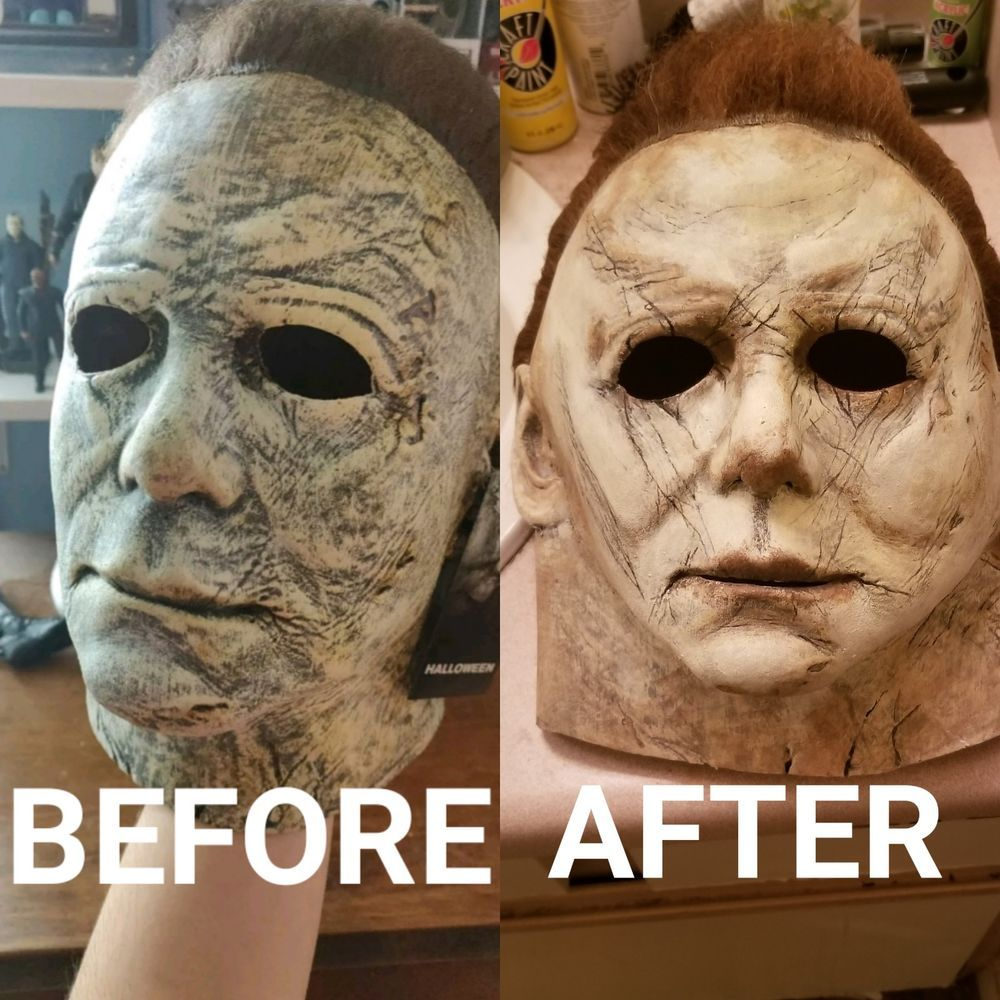 Michael myers mask 2018 repaint Service fashion clothing