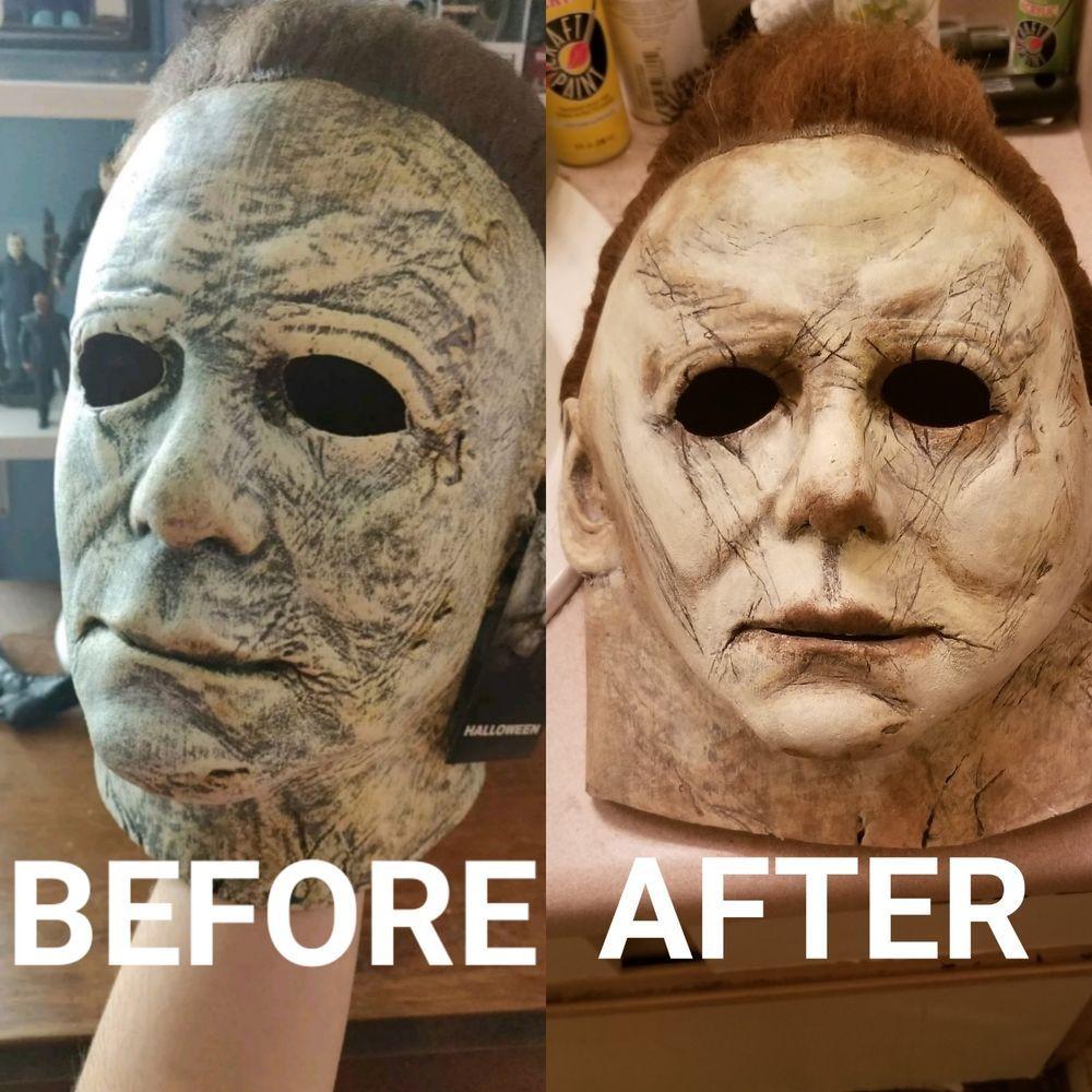 Michael myers mask 2018 repaint Service fashion clothing
