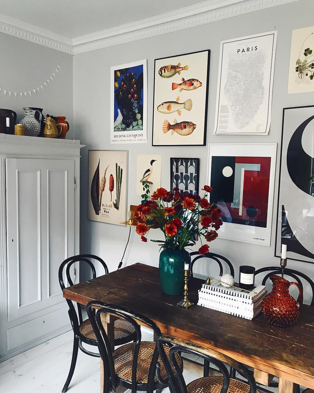 5 Blue Vintage Dining Rooms You Ll Fall For Dining Room Wall