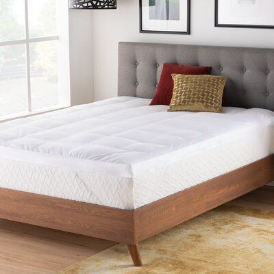 The Twillery Co Trahan 3 Down Alternative Mattress Topper Bed Size Twin Xl Mattress Best Mattress Bed Sizes