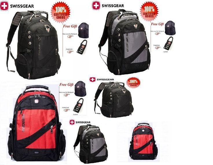 Faket Unisex Swissgear Backpack School Laptop Bag Travel Hiking Bag SA1418 Nylon