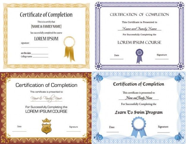 beautiful certificate templates vector Documents Pinterest - free template certificate