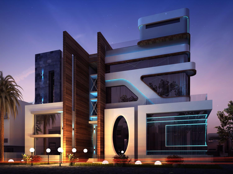 private villa kuwait ultra modern villa kuwait pinterest. Black Bedroom Furniture Sets. Home Design Ideas
