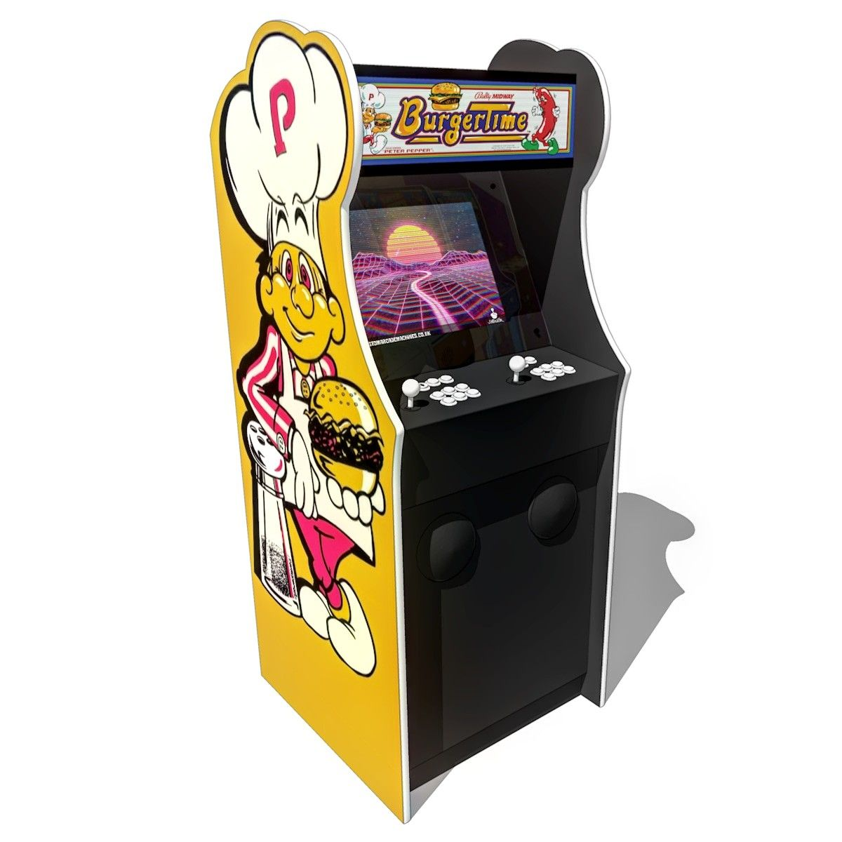 My Burger Time replica multi game arcade machine for