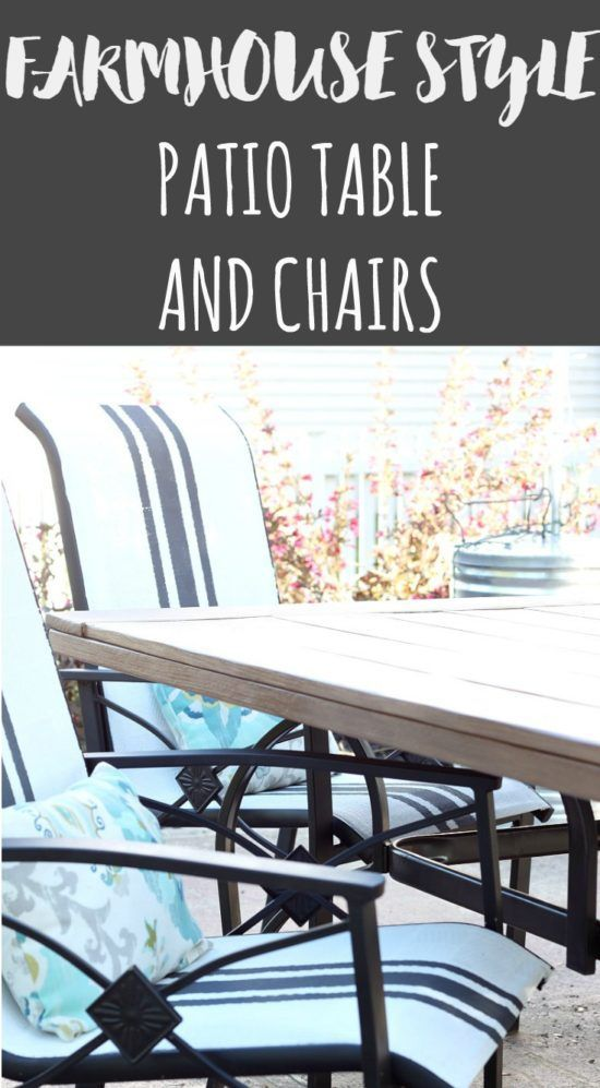 Update your tired patio furniture with these farmhouse style outdoor furniture makeovers.