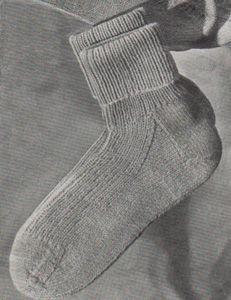 Free knitting pattern for women's ankle socks