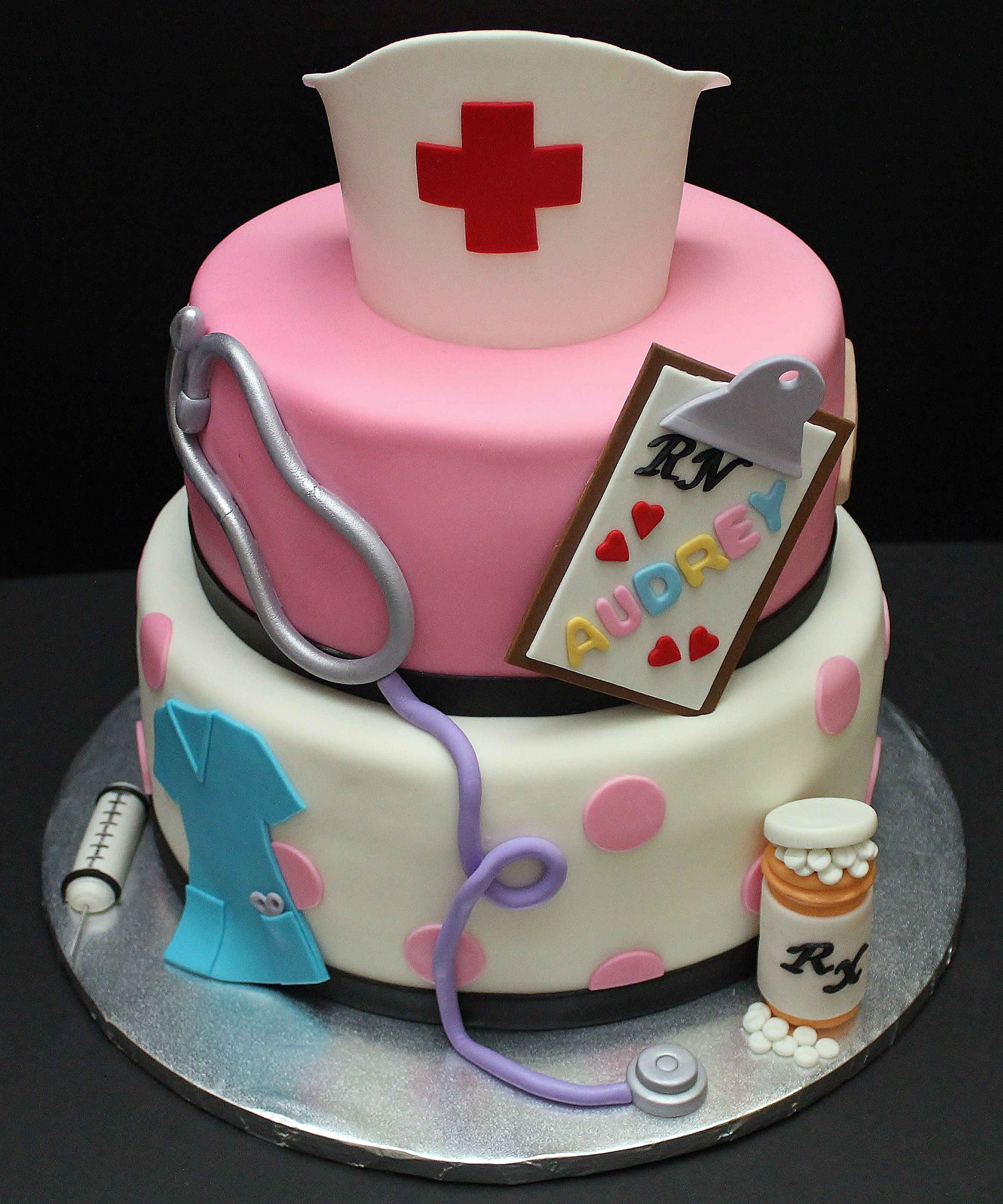 Cakes For Nurses By Cecy Huezo Delightfulcakesbycecy