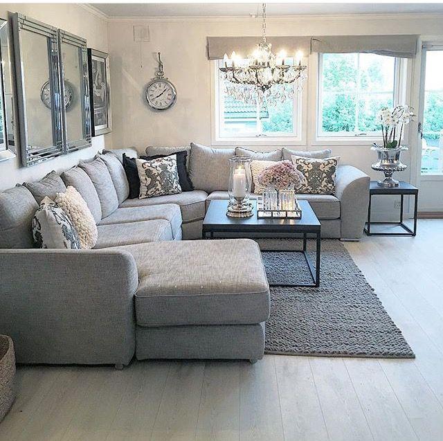 inspiration d coration salon lumineux pur chic structur couch en 2018 pinterest. Black Bedroom Furniture Sets. Home Design Ideas