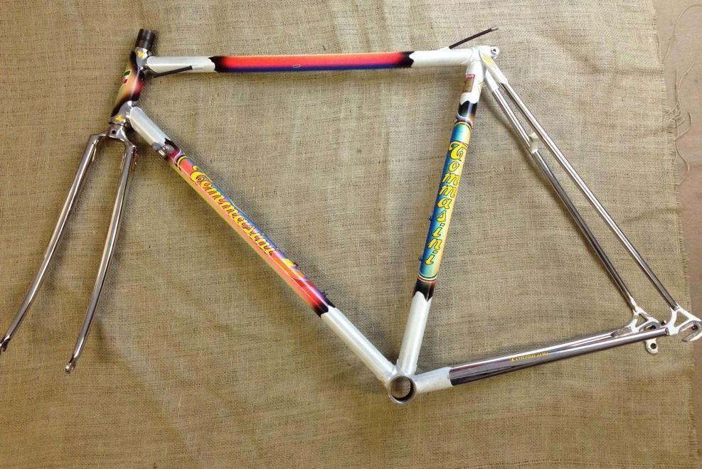 tommasini super prestige columbus slx road bike frame 700c made in italy 54cm