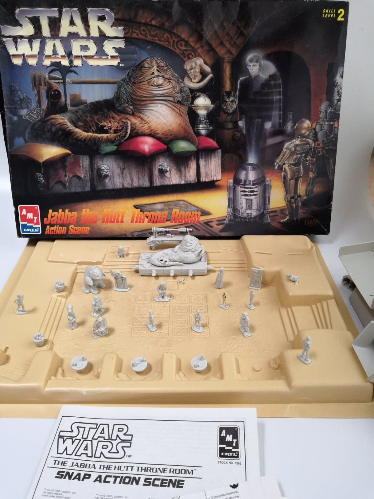 STAR WARS JABBA THE HUTT THRONE ROOM Action Scene AMT ERTL MODEL KIT