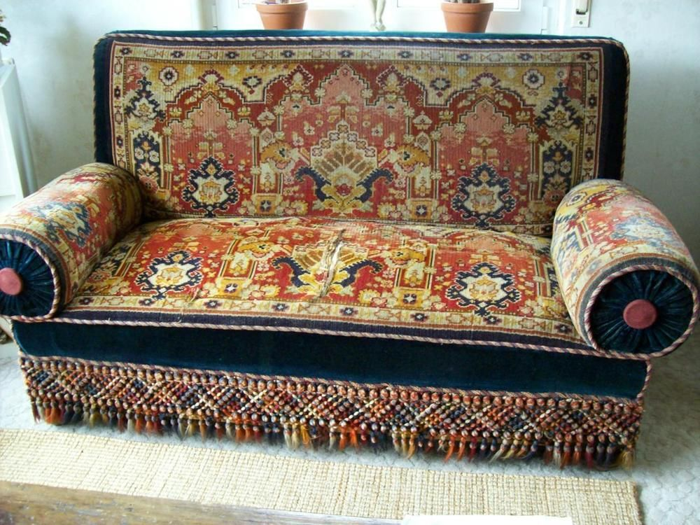 Lieblich Sofa Canape Herrenzimmer Ca.1900 Jahrhundertwende Original Antik