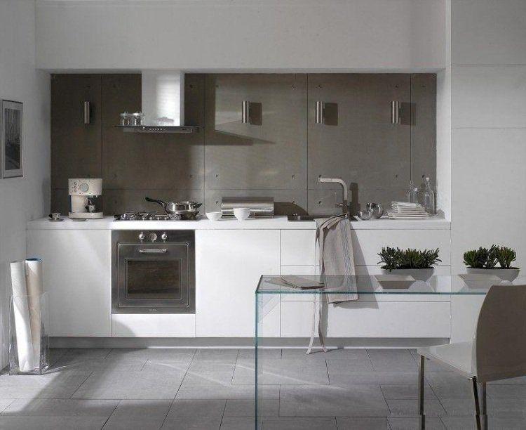 Cuisine blanche et grise - 30 designs modernes et élégants | Cuisine ...
